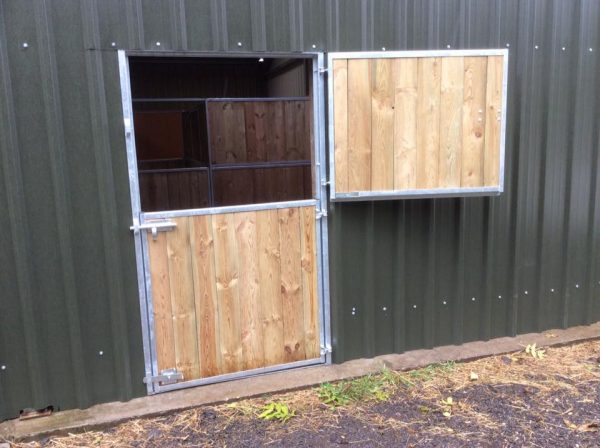 Horse Stable Door in Barn wall