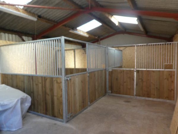Internal Horse Stables in pine