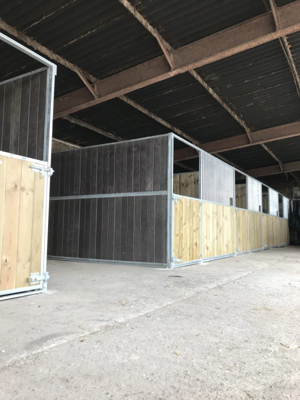 Internal Horse Stables in Pine & Plastic