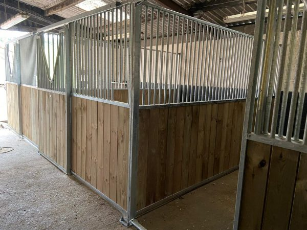 Internal Horse Stables in pine with V Grill