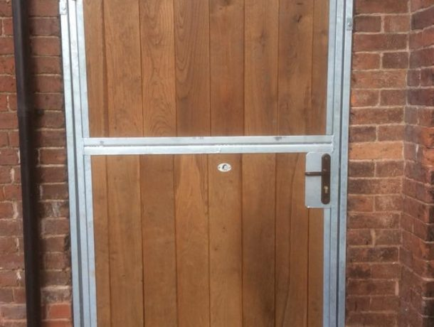 Horse Stable door in brick build stable
