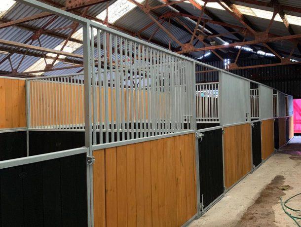 Painted Pine Internal Horse Stables - Half Door Fronts
