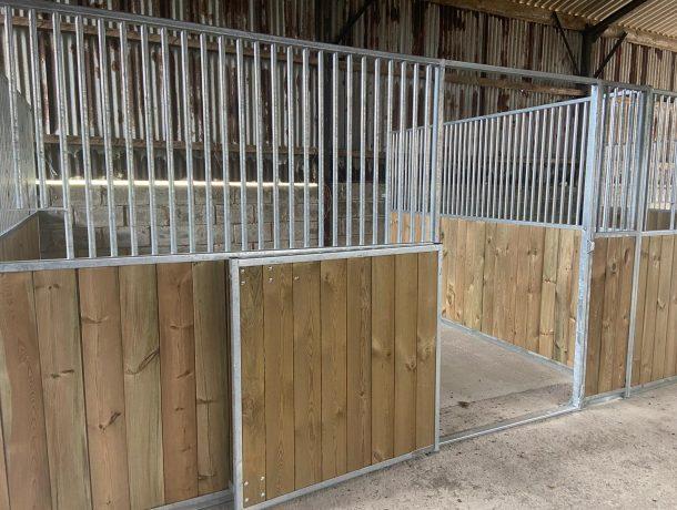 Half Door Stable Front in Pine