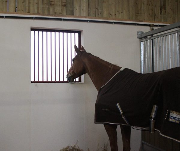 Horse Stable window with bars internal view
