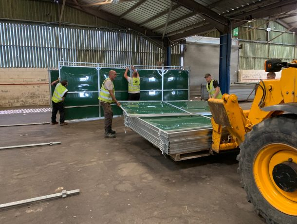 installation of temporary internal horse stables