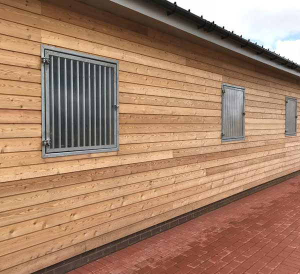 Horse Stable window with bars and plexi glass