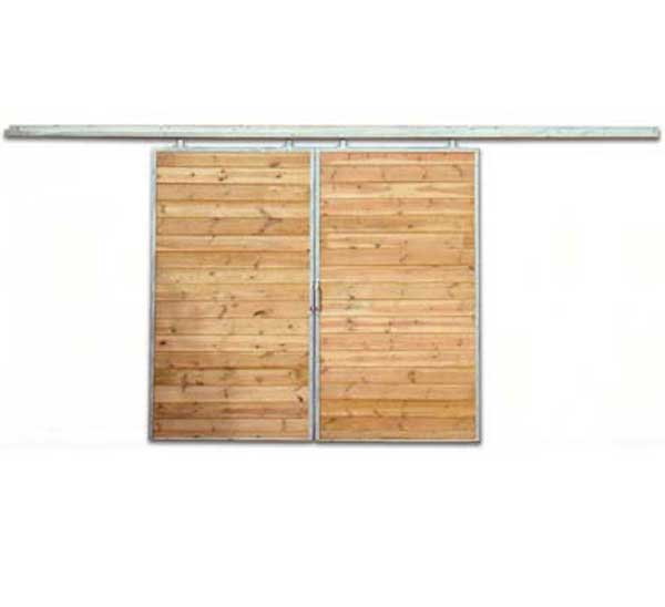 standard sliding barn door
