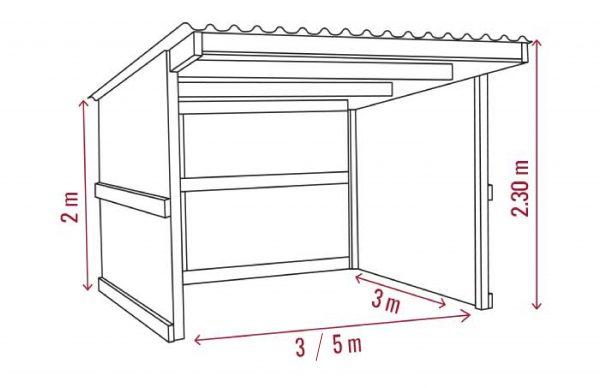 Small field shelter dimensions
